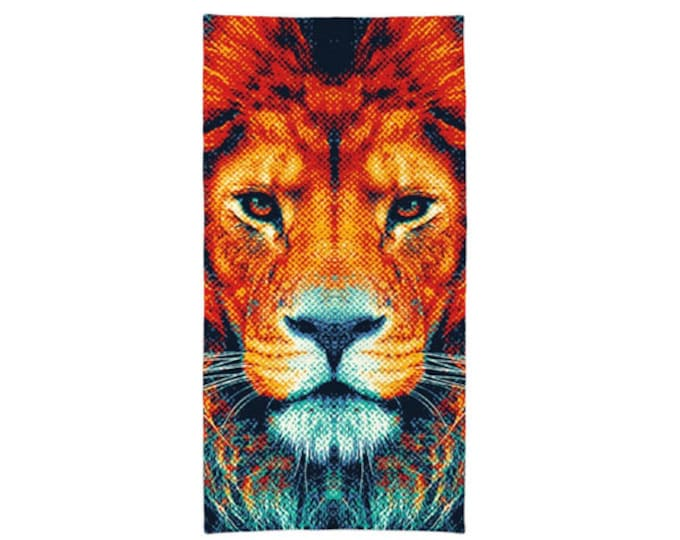 Lion Towel - Colorful Animals