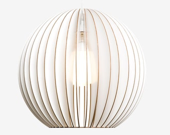 AION L wood pendant light, wooden lampshade, wood lamp