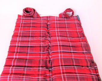 Large Hot/Cold Microwave Rice Heat Pack, Red Plaid Cotton Flannel, Unscented Rice Heating Pad, Fibromyalgia/Arthritis Relief, Gift For Him
