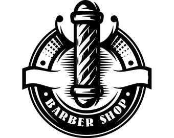 Barbershop Pole Barber Hairdresser Haircut Business Beard Salon Man SVG EPS PNG Vector