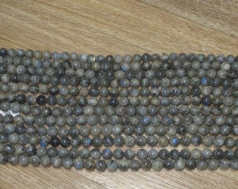 Labradorite 10MM Round Blue Flash  15 inch Strand