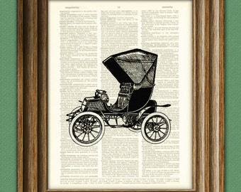 Cool Studebaker Phaeton car beautifully upcycled vintage dictionary page book art print