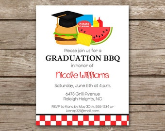 Cookout invitation etsy graduation bbq invitation bbq invitation graduation cookout invitation grad party invitation graduation filmwisefo Images