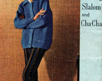 Villawool Book 84 Womens 60s Vintage Knitting Patterns Booklet Quick Knit Sweaters Vests Slippers & Cardigans in 12 Ply Originals not PDF