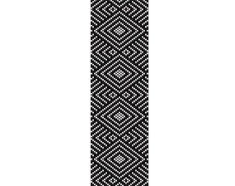 Illusion Peyote Cuff Bracelet Pattern