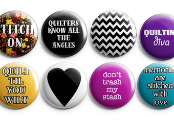 Valentine Gift for Her, 8 quilting buttons or magnets, gifts for quilters, quilting, gifts for her, quilting notions, sewing buttons