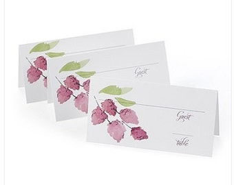Floral Wedding Place Cards Blank (Set of 25) Wedding Supplies