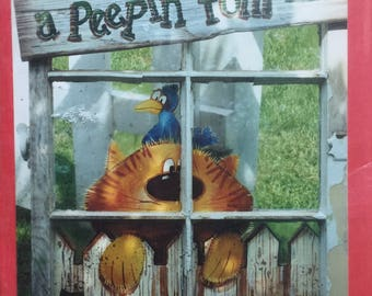 Rare 1999 Vintage Decorative Painting Pattern Peeping Tom