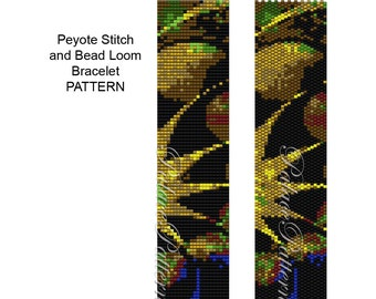 Bead Weaving Pattern - PP16a - Loom and Peyote Stitch
