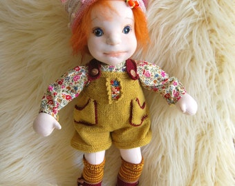 Waldorf inspired doll Cloth doll,Soft sculpture doll, Handmade doll, Ooak doll, Steiner doll, Art doll,Collectible doll, Baby doll,Soft toy