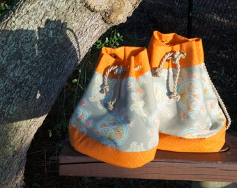 Orange Sea Turtle Bags