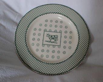 Genevieve Lethu Plate Marguerite Farmyard design