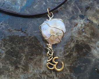 Citrine shape crystal necklaces