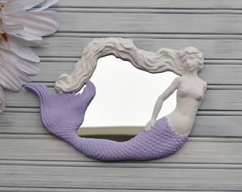 Mermaid Mirror.  Mermaid Wall Decor. Mermaid Wall Mirror. Mermaid Decor. Mermaid Art. Nautical Decor. Mirror. Nursery Decor. Beach Decor.