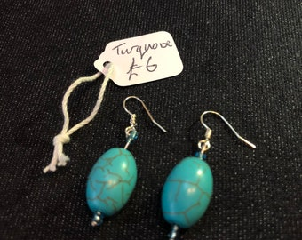 Turquoise stirling silver earrings