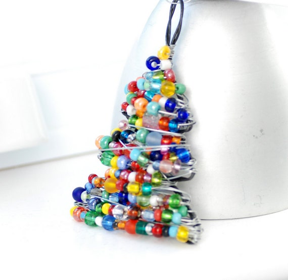 - Christmas Ornament Beaded Christmas Tree Wire Tree