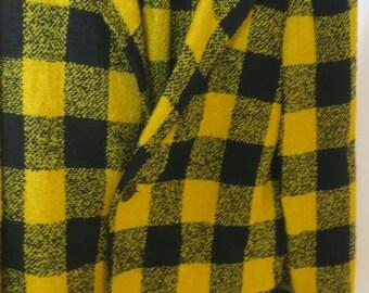 Bette Appel 2 pc Skirt Suit Yellow & lack wool sz M
