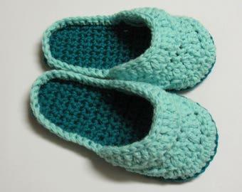 PATRON PDF No 24 Pantoufles mules crochet femmes français anglais chaussons adulte facile 3petitesmailles