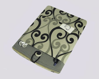 iPad Mini Case, Kindle Fire Sleeve, iPad Mini 3 Cover, Kindle Case, Kindle Fire HDX, Samsung Galaxy Cover, Lenovo Yoga 8,  Black Swirls