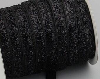 elastic Ribbon 10 mm black by the yard