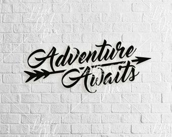 Adventure awaits SVG - digital download - adventure svg - svg files - arrow svg - svg dxf eps png ai plt instant download
