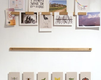 Picture & notice rail with magnet set