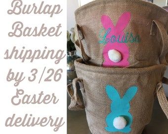 Monogram Basket Girls Easter Basket Personalized Easter Basket Personalized Basket Monogrammed Basket Easter Bunny Basket Easter Egg Basket