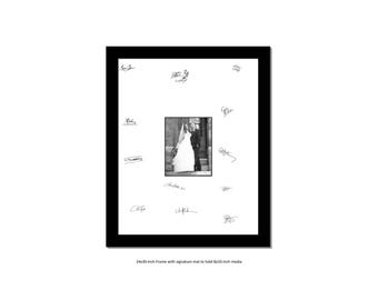 24x30 Black Signature Frame for 8x10 or 11x14-inch Wedding, Bridal, Anniversary, Newborn, Prom or Graduation Photographs