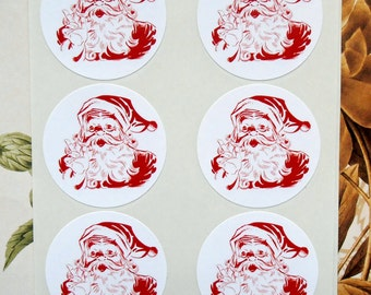 Christmas Stickers Santa Stickers Envelope Seals Party Favor Treat Bag Stickers CS017