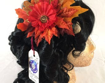 Fall Topaz Fascinator Clip