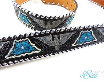 Beautiful MALLORY's with the hand crafted leather belt