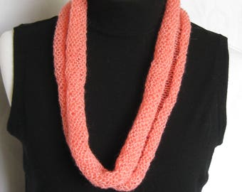 Coral Rolled Edge Cowl, Light & Airy Cowl