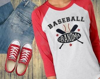 Baseball Mom, Dad, Grandma, Grandpa, Relative Raglan Baseball Style T-Shirt