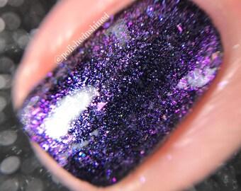 Pink Purple Sheer Topper Nail Polish - Bridal Wedding Nail Polish - Indie Nail Polish - Ethereal Elegance Crystal Knockout - 15mL Full Size