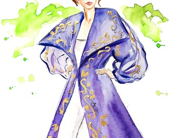 Watercolor Painting Print, Fashion Illustration Print, Fashion Art