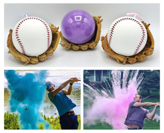 NEW* Premium BASEBALL for Gender Reveal Filled with the Most Powder! The Perfect Gender Reveal Idea!