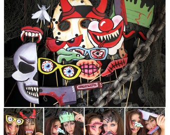 scary Halloween photo booth props - perfect for your Halloween bash or your creepy party