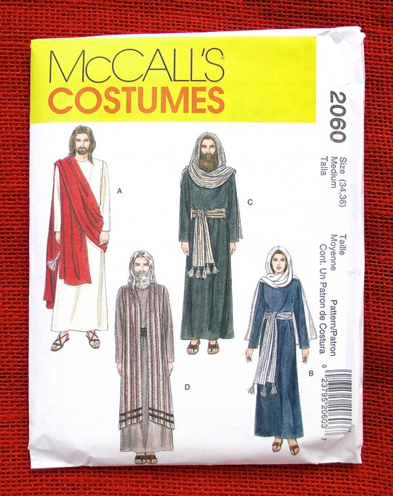 McCall\'s Sewing Pattern 2060, Passion Play Costumes, Jesus, Mary ...