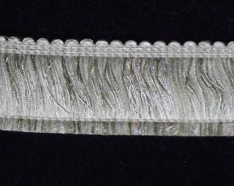 Pale Green Brush Fringe Trim, 14 Yard Piece