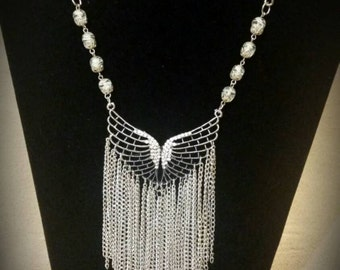 After Life Accessories Repurposed SP Wings & Chains Necklace