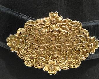 Clearance Dotty Smith Belt With Dogwood Blossom Buckle