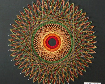 Round Optical Illusion String Art