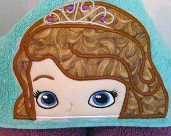 Sophia the First Princess Hooded Towel