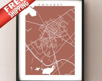 Amherst, Nova Scotia Map Print
