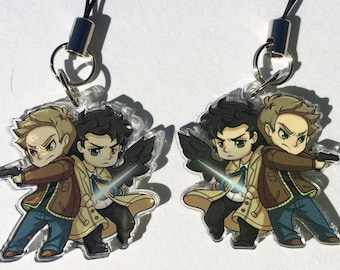 "Supernatural - Dean and Castiel 1.5"" Charm"