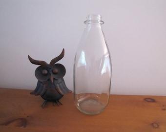 Vintage Milk Pint, Kitchen Decor Milk Pint, Milk Bottle, Vintage French Milk Bottle, Milk Glass Bottle Farmhouse Decor