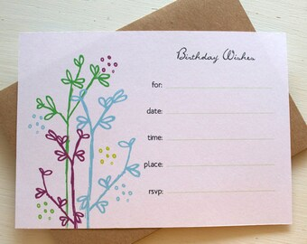 Fill in the Blank Party Invitations