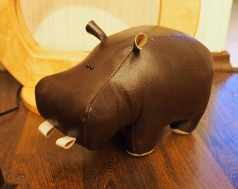 Little Hippo Toy; Handmade Stuffed Toy; Home Decor; Interior Antistress Toy; Hippo Figurine