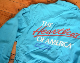 Vintage 80s Chevrolet/Chevy Heartbeat of America Zip-Up Jacket