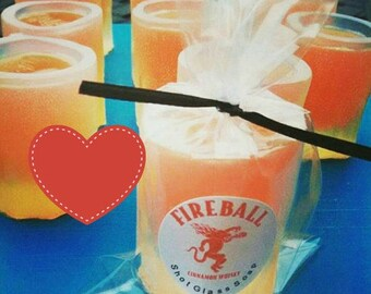 Valentine's gift personalized Shot Glass Soap. Gift for Him. Gift from Wife. Fireball Inspired SOAP. funny gift for her. Funny gift for him